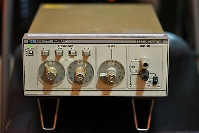 HP 239A Ultra Low Distortion Pure Oscillator - upgraded Read