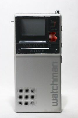 Vintage Sony Watchman Fd 20A Mini Tv Works (W/ Case)