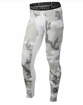 d3c59d29e6819 NIKE PRO COOL Camo Men's Football Tights 3/4 Length 848199-100 White ...
