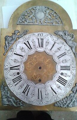 Antique  Handmade Kieninger Grandfather clock dial for KSU & RSU movement