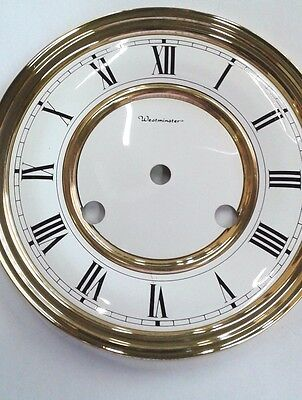 Hermle-Westminster clock dial  150 mm for 141-140 movement solid brass