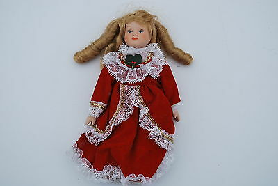 8 inch Christmas Theme Porcelain Doll - Made In China - Cute!!
