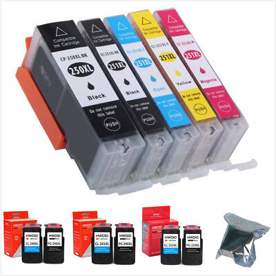 PG245 246 PG 240 241 210 XL 250XL Black & Color Ink Cartridge For Canon Printers