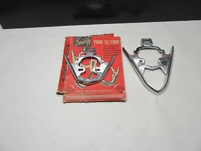 1952 1953 Ford Cars Accessory Hood And Trunk Ornaments Nos V8
