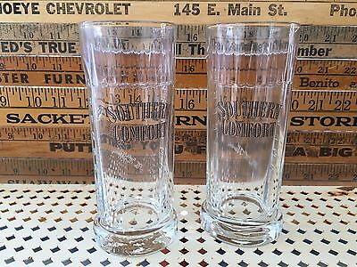Set of Two Southern Comfort Tall Drink Glasses