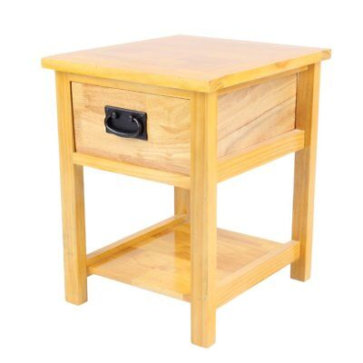 Oak Nightstand Side Table / Light Oak Lamp Table/ Solid Wood Table/ Brand New SY