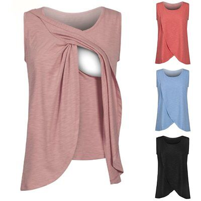 Pregnant Women Maternity Nursing Tops Tank Pregnancy Breastfeeding Tees Shirt