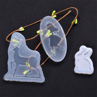 Beautiful Girl Rabbit Deer Shape Silicone Mold Craft Craft Mould Baking Tools^
