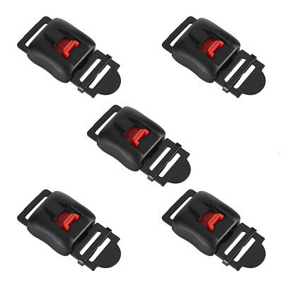 5x Motorcycle Helmets Speed Clip Chin Strap Quick Release Disconnect Buckle Kit