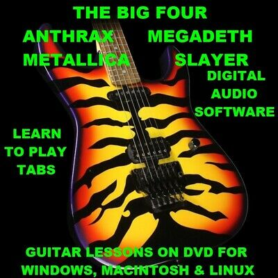 The Big 4 Anthrax Megadeth Metallica Slayer 1215 Guitar TABS Lesson CD 246 BTs