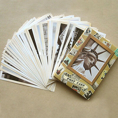 Hot 1Set/32pcs Vintage Travel Landscape Postcard Greeting Card Gift Cards