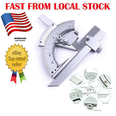 Precision 0-320° Angle Measuring Finder Bevel Protractor Tool Ruler Gauge in US