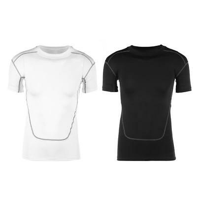 Men Breathing Bodycon Slim Fit Fast Drying Fitness Exercise Running Tee T-Shirt