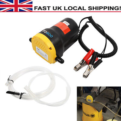 12V Fluid Extractor Oil Diesel Fuel Transfer Pump Siphon Car Motorbike Use UK