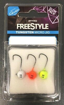 Lead//Blei 2g//3g 5er Pack Jigkopf by SPRO FREESTYLE Micro Jig Naturel