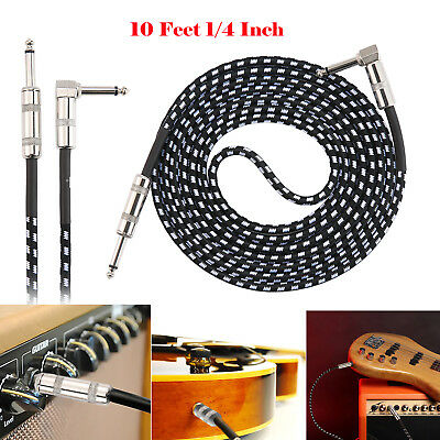 New 10 Feet Premium Electric Guitar Bass Cable Musical Instrument Cord 1/4