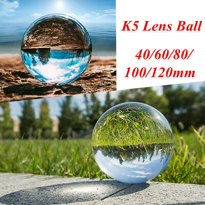 40-120mm Clear Crystal Paper Photography Lens Ball Photo Prop Background Decor