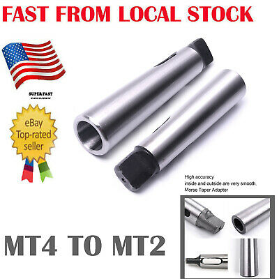 Morse Taper MT4 to MT2 Reducing Reduction Adapter Drill Sleeve for Lathe Mill US