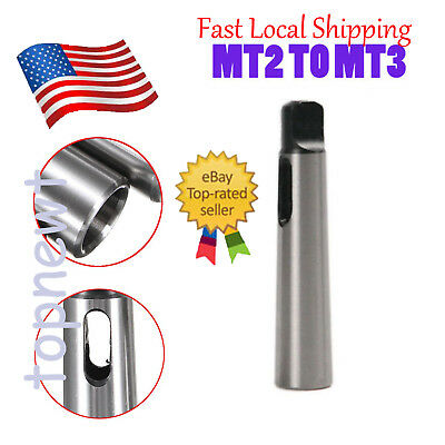 Morse Taper MT2 to MT3 Reducing Reduction Adapter Drill Sleeve for Lathe Mill