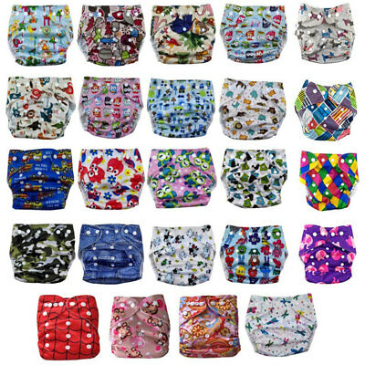 1Pc Happy Flute Bamboo Cloth Diaper All-In-One Charcoal Washable Waterproof