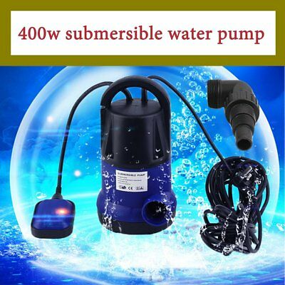 400W Heavy Duty Submersible Clean And Dirty Waste Pond Water Pump Blue New