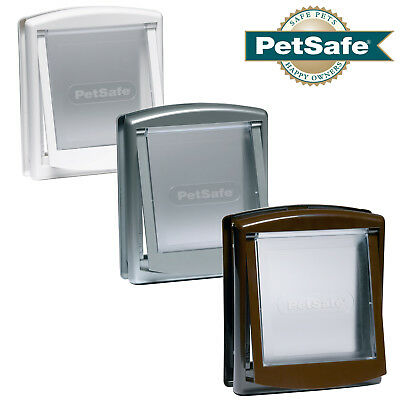 PetSafe Dog & Cat Flap Staywell Original 2-Way Pet Door White Brown Silver S/M/L