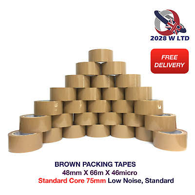 BROWN PARCEL PACKING TAPE - 48mm*66m*46micron (STANDARD, LOW NOISE)