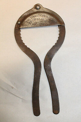 1905 Detroit Mich Vintage The Turney Mfg Co Fruit Jar Opener Wrench Metal