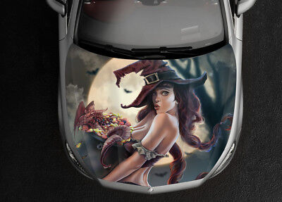 Dragon Witch Art Car Bonnet Wrap Color Vinyl Sticker Decal Fit Any Car