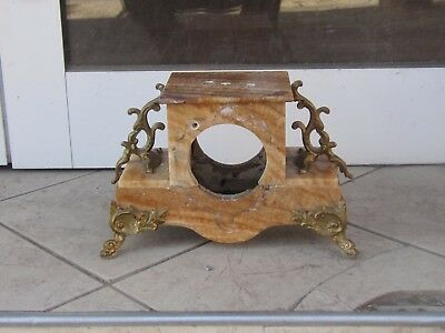 Antique French Figural Marble Mantle Clock Case Only-19Th C