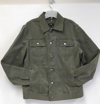 J Crew Men's Cotton Canvas Casual Barn Field Jacket Coat Size M Khaki EUC