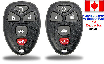 2x New Replacement Keyless Remote Key Fob For GM Chevy 22733524 - Shell Only