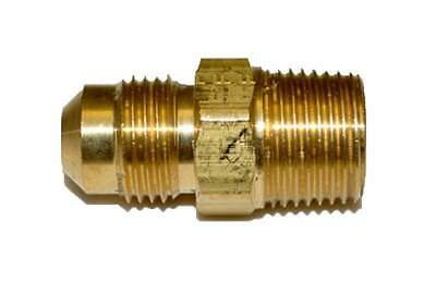 "HPC Male Connector Brass Fitting, 3/8"" Tube, 3/8"" MIP"