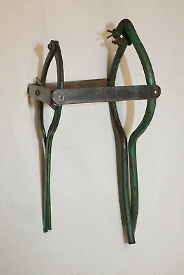 Antique Green Metal Odd Double Handled Fruit Jar Opener Wrench Tool Adjustable