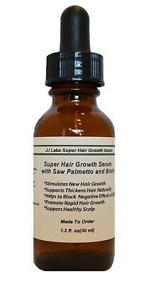 Super Hair Growth Serum with Saw Palmetto, Biotin,  Unisex Hair Loss Treatments