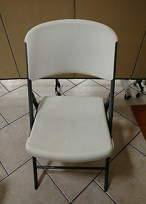 Lifetime Commercial Grade White Indoor/Outdoor Contoured Folding Chair(s)