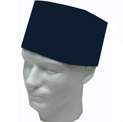 Size M, Dark Blue Mesh Top sushi chef hats, Sushi chef Skull hat, Sushi chef Hat