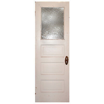 "Reclaimed 28"" Door with Florentine Glass, Early 1900s, NED775"