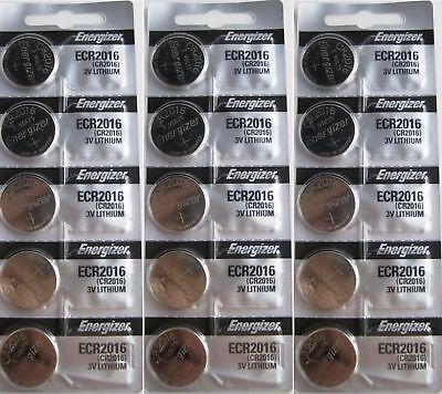 Lot of 15 PC ENERGIZER CR2016 WATCH BATTERIES 3V LITHIUM CR 2016 Coin ECR2016