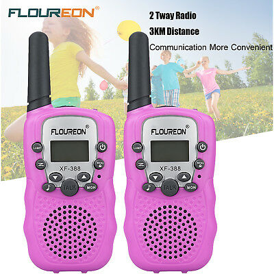 2X FLOUREON 8 Channel Walkie Talkie Set UHF400-470MHz Two-Way Radio 3 Km Range