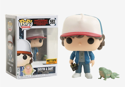 Funko Pop Dustin Dart #593 Stranger Things Exclusive Brand New