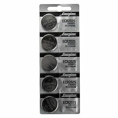 5 x FRESH Genuine Energizer CR2025 ECR 2025 3V Coin Button Battery Fast Shipping
