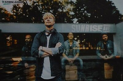 SUNRISE AVENUE - A3 Poster (ca. 42 x 28 cm) - Samu Haber Clippings Fan Sammlung