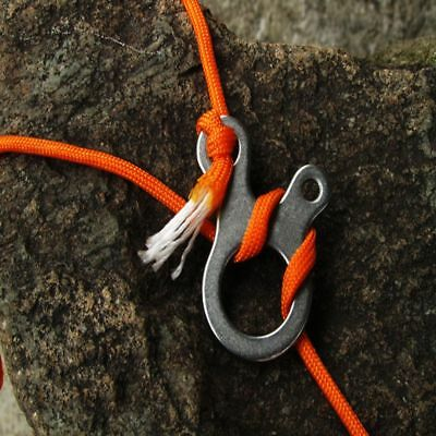 Stainless Outdoor Survival Tool EDC Multi-purpose Tools Knotting 3 Hole Buckle