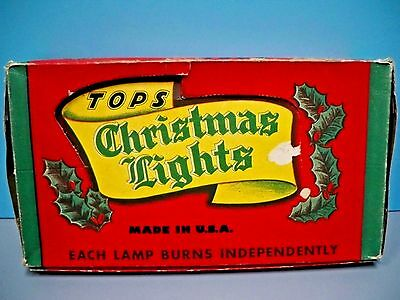 VINTAGE TOPS INDOOR CHRISTMAS DECORATIVE LIGHTING OUTFIT - EARLY 1940's