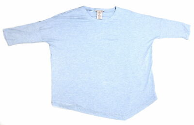 Philosophy Ladies Size Medium 3/4 Sleeves Asymmetrical Top, Crystal Blue Heather