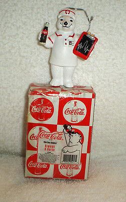 Coca Cola Coke Polar Bear Always A Nurse Christmas Ornament