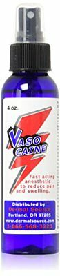 Vasocaine Numbing Spray Painless Anesthetic Numb 4 Ounce