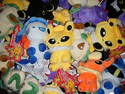 "Pokemon EEVEE EVOLUTIONS Plush Stuffed Toy 5""/12cm MIXED RANDOM LOT OF 3"