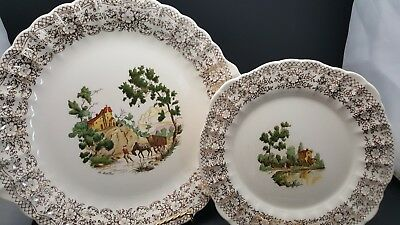 China d'Or Limoges-American  22k Gold 1940s